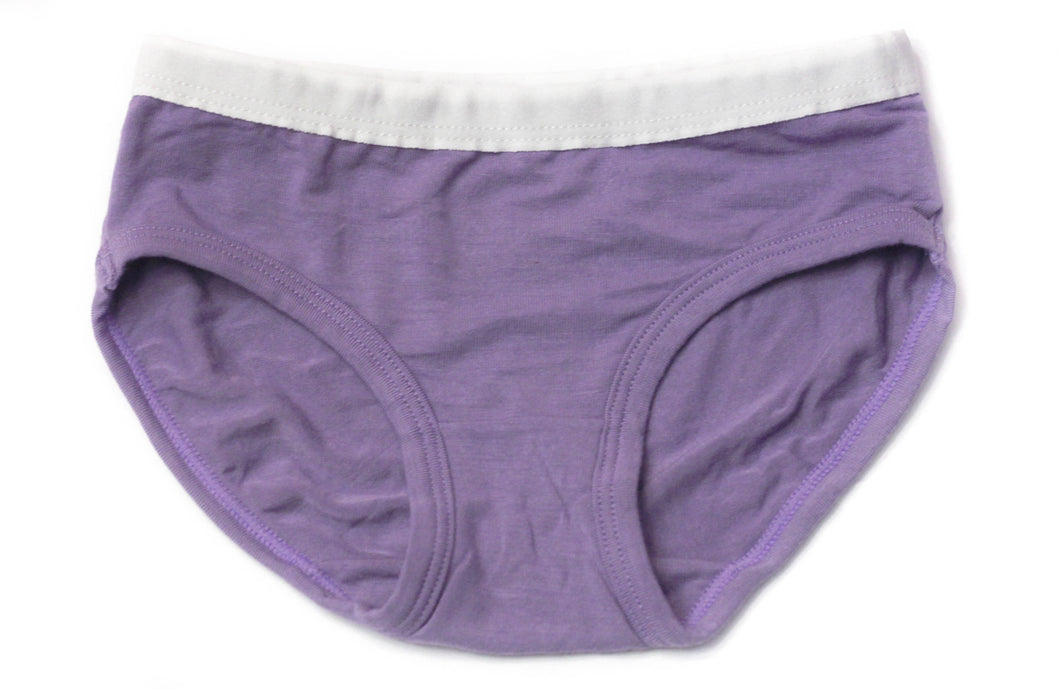 Girls Bamboo Underwear (Purple) - Toddler, kids, baby
