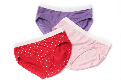 Girls Bamboo Underwear (3-Pack) - Toddler, kids, baby