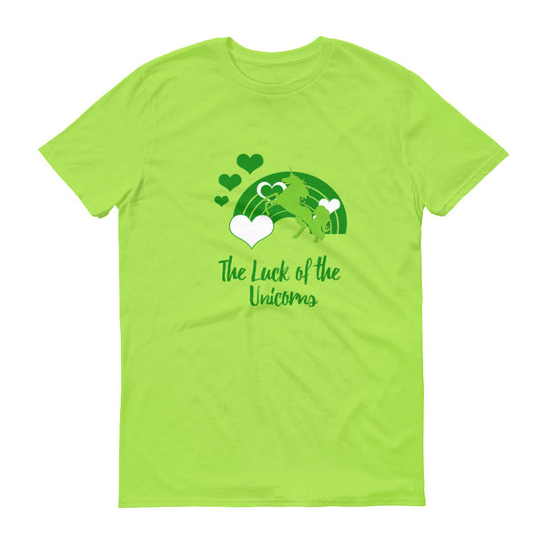 The Luck of the Unicorns Short sleeve t-shirt - The Fairy Princess Store