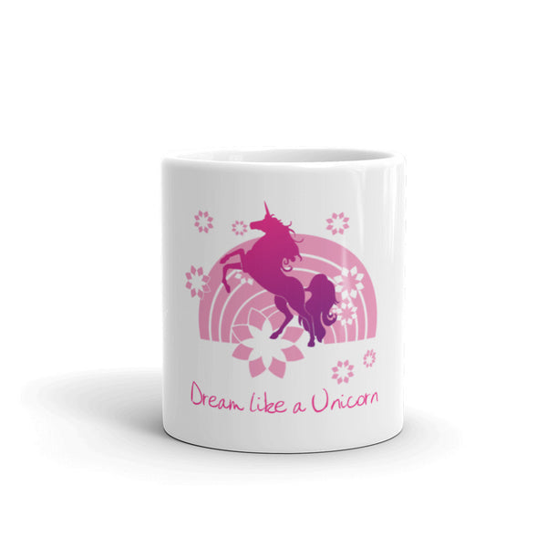 Dream Like a Unicorn Mug (Pink) - The Fairy Princess Store