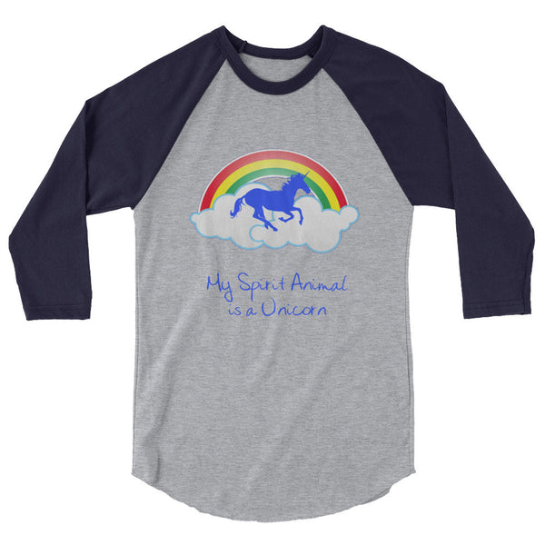 My Spirit Animal is a Unicorn raglan shirt - The Fairy Princess Store