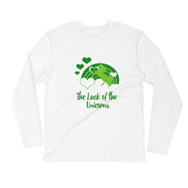 The Luck of the Unicorns Long Sleeve Fitted Crew - The Fairy Princess Store