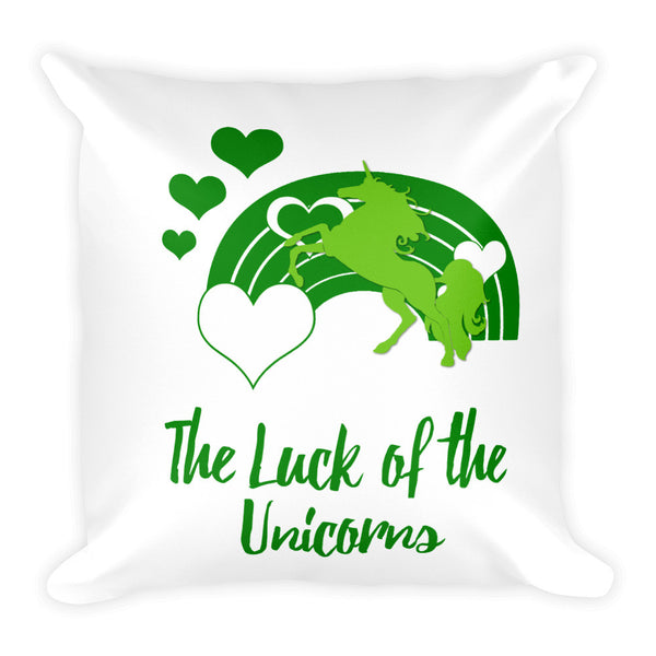 The Luck of the Unicorns Square Pillow - The Fairy Princess Store