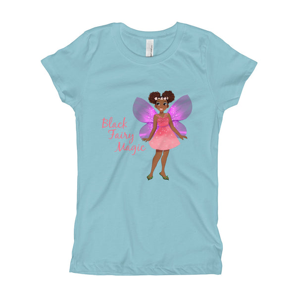 Black Fairy Magic Girl's T-Shirt - The Fairy Princess Store