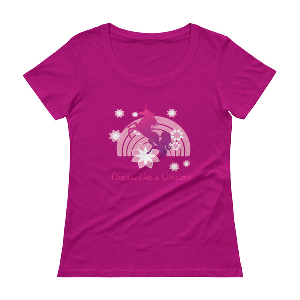 Dream Like a Unicorn Ladies' Scoopneck T-Shirt