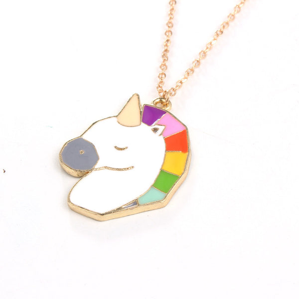 Enamel Unicorn Pendant Necklace - The Fairy Princess Store