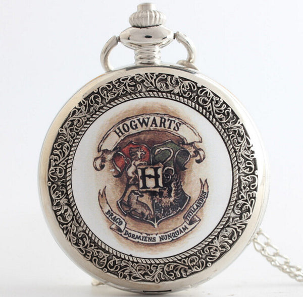 Harry Potter Hogwarts School of Witchcraft and Wizardry Pocket Watch - The Fairy Princess Store