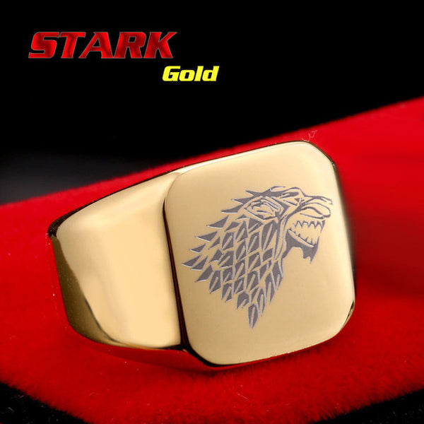 Game of Thrones titanium steel ring - The Fairy Princess Store