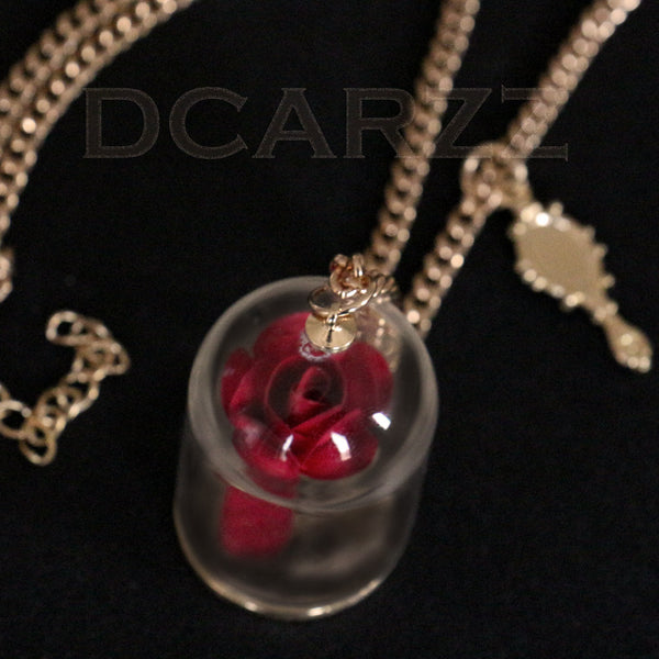 Beauty and the Beast Enchanted Rose Necklace - The Fairy Princess Store