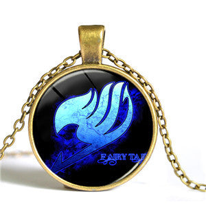Fairy Tail Glass Cabochon Pendant Necklace - The Fairy Princess Store
