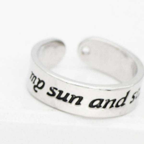 Game of Thrones My Sun and Stars & Moon of My Life Rings - The Fairy Princess Store