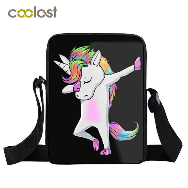 Dabbing Unicorn Mini Messenger Bag