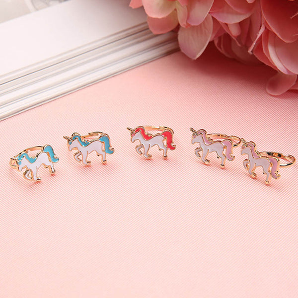 Unicorn Enamel Finger Ring