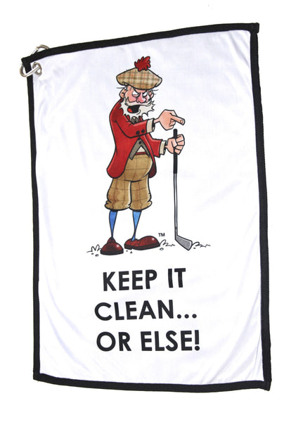 GOLF TOWEL TO CLEAN #MYBALLS