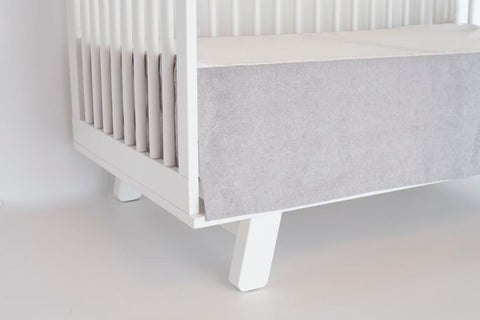 gray linen crib skirt