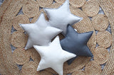 Gray and White Dots Star Pillow