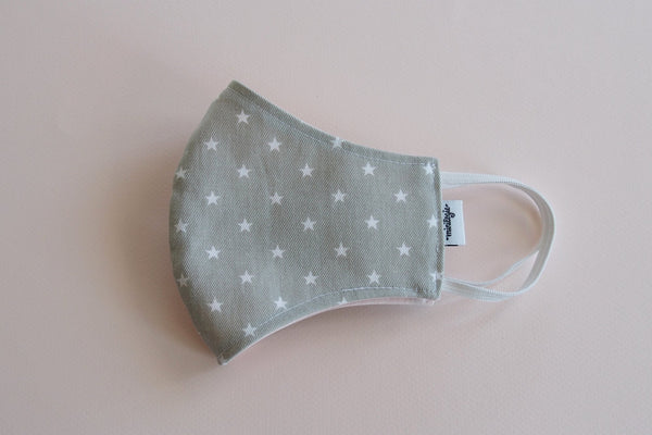 White Stars on Khaki Mask