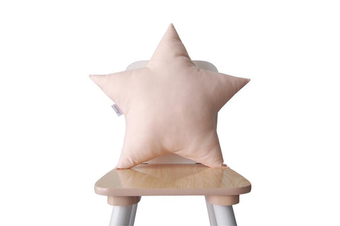 pink shell star pillow