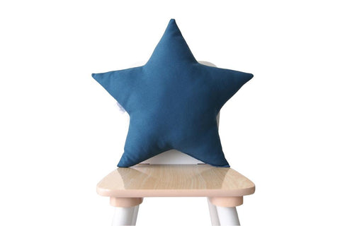 petrol blue star pillow