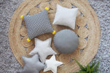 Light Gray Star Pillow