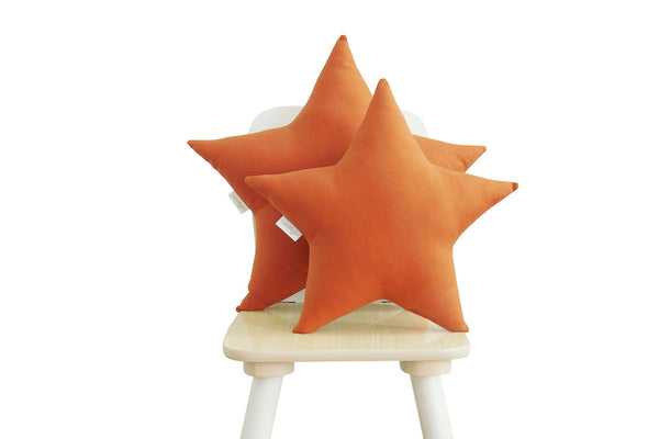 burnt orange star pillow