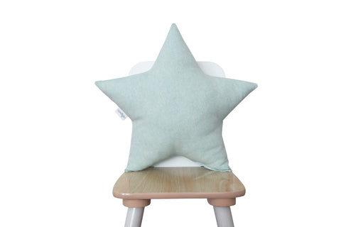light aqua star pillow