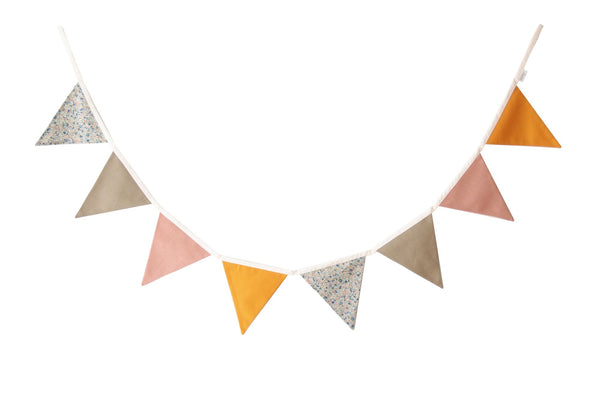 Olive and Pink bunting