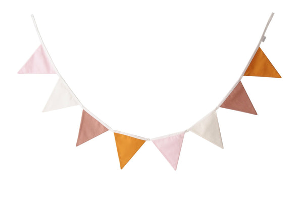 Pink and Mustard bunting