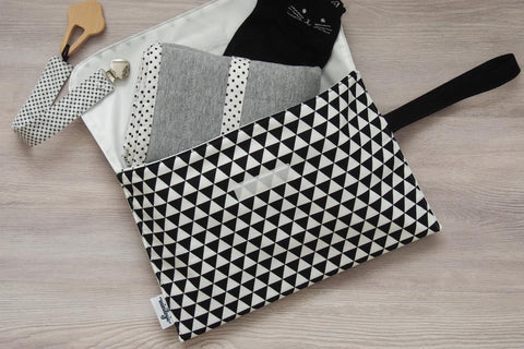 Triangles Diaper Clutch