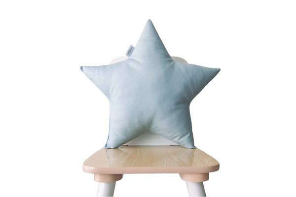 light blue star pillow