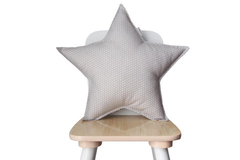 Gray and White Polka Dots star pillow