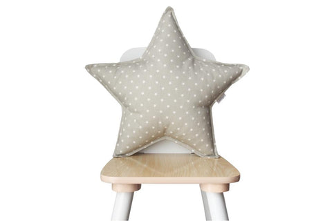 Soft Gray Star Pillow