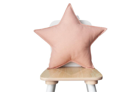 pink blush star pillow
