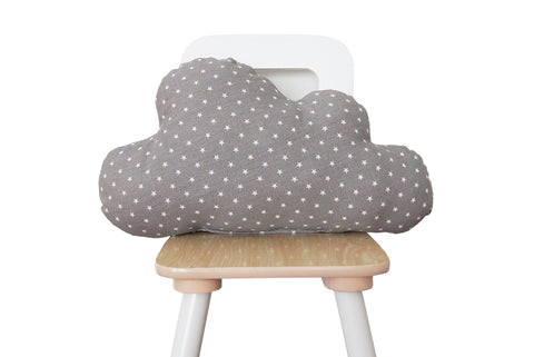 gray cloud pillow