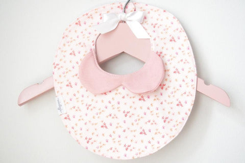 Light Pink Floral Baby Bib