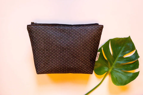 Black Polka Dots Denim Bag