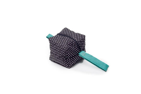 Black Polka Dot Pacifier Bag
