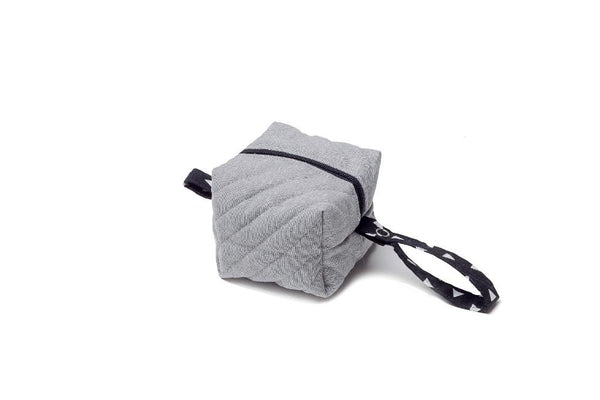 Gray Linen Pacifier Bag