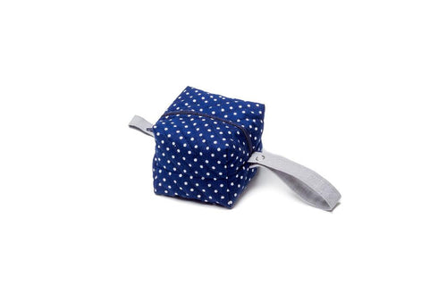 Navy Pacifier Bag