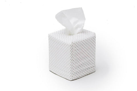 Gray Polka dot Tissue Box