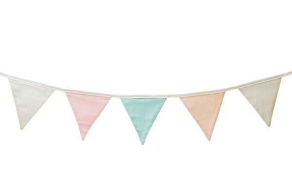 Mint and Coral bunting
