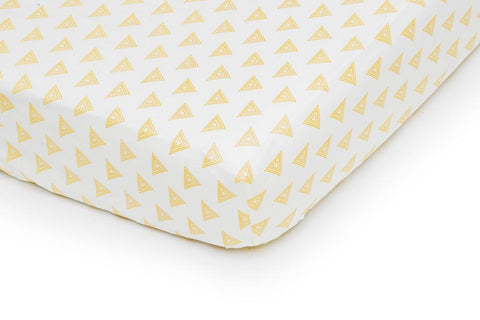 Ivory and Gold Crib Fitted Sheet