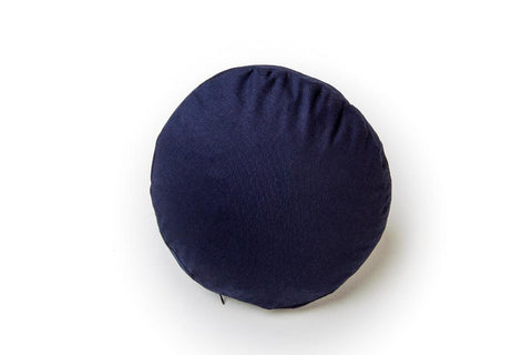 Navy round pillow