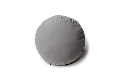 Gray round pillow