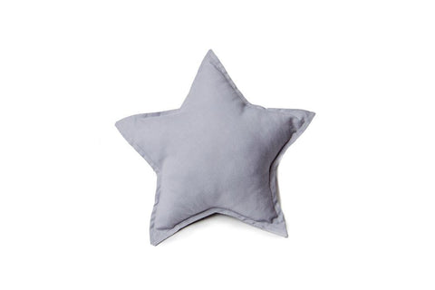 gray star pillow
