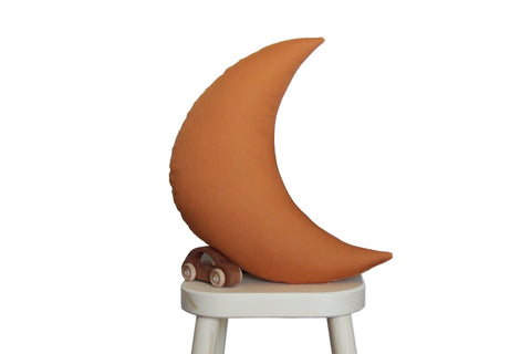 Rust Moon Pillow