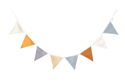 Blue and Ochre bunting