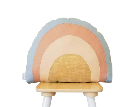 Pastel rainbow pillow