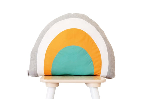 Gray Rainbow Pillow