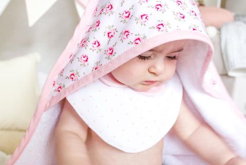 Pink Roses Baby Hooded Towel